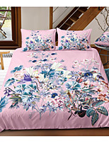 cheap -Floral 3-Piece Duvet Cover Set Hotel Bedding Sets Comforter Cover with Soft Lightweight Microfiber, Include 1 Duvet Cover, 2 Pillowcases for Double/Queen/King(1 Pillowcase for Twin/Single)