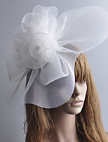cheap -Retro Hyperbole Tulle Fascinators with Feather / Floral 1 Piece Special Occasion / Party / Evening Headpiece