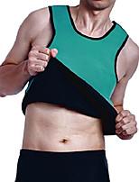 cheap -Mens Slimming Sweat Vest Hot Neoprene Sauna Shirt Body Shapers for Weight Loss