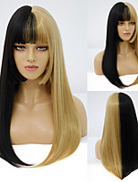 cheap -Synthetic Wig Natural Straight Neat Bang Wig Medium Length A1 A2 A3 A4 Synthetic Hair Women's Cosplay Party Fashion Blonde Black