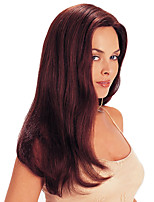 cheap -Synthetic Wig Curly Asymmetrical Wig Medium Length Wine Red Synthetic Hair Women's Party Fashion Comfy Burgundy