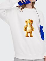 cheap -Women's Pullover Sweatshirt Panda Bear Print Daily Other Prints Basic Hoodies Sweatshirts  White Blue Blushing Pink