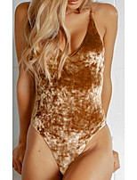 cheap -Women's One Piece Monokini Swimsuit Push Up Print Color Block Tie Dye Brown Swimwear Padded Crop Top Bathing Suits New Casual Sexy