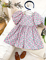 cheap -2021 spring and summer new products girls floral dress small and medium-sized children's puff sleeve doll dress baby children's princess dress