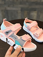 cheap -Boys' Girls' Sandals Flower Girl Shoes Princess Shoes School Shoes Leather PU Little Kids(4-7ys) Big Kids(7years +) Daily Party & Evening Walking Shoes Stitching Lace Blue Pink Green Spring Summer