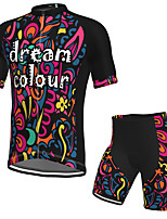 cheap -Men's Short Sleeve Cycling Jersey with Shorts Spandex Black Bike Breathable Quick Dry Sports Graphic Mountain Bike MTB Road Bike Cycling Clothing Apparel / Stretchy / Athletic / Athleisure