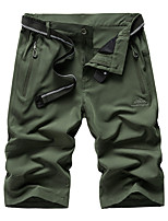"cheap -Men's Hiking Shorts Solid Color Summer Outdoor 12"" Regular Fit Multi-Pockets Breathable Soft Comfortable Shorts Black Army Green Grey Hunting Fishing Climbing M L XL XXL XXXL"