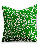 cheap -1 pcs Linen Pillow Cover, Floral&Plants Square Zipper Polyester Traditional Classic