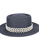 cheap -Lady Pearl Straw Hats with Pearls / Solid 1 Piece Casual / Holiday Headpiece