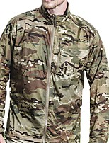 cheap -Men's Hunting Jacket Outdoor Breathable Ventilation Ultraviolet Resistant Wearproof Spring Summer Solid Colored Camo Nylon Black Camouflage Blue