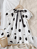 cheap -foreign trade children's skirts 2021 summer polka dot girls dress girls baby skirt children puff sleeve western princess dress