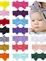 cheap -1pcs Infant Unisex Active / Sweet Daily Wear Blue Solid Colored Bow Polyester Hair Accessories White / Black / Blue One-Size