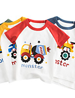 cheap -Kids Boys' T shirt Tee Short Sleeve Graphic Casual / Daily Outdoor Print Children Summer Spring & Summer Tops Streetwear Black Blue Red 2-8 Years