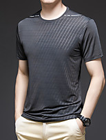 cheap -Men's T shirt Hiking Tee shirt Short Sleeve Tee Tshirt Top Outdoor Quick Dry Lightweight Breathable Stretchy Autumn / Fall Spring Summer Polyester White Black Grey Fishing Climbing Camping / Hiking