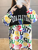 cheap -Women's Hoodie Pullover Oversized Patchwork Hoodie Letter Printed Sport Athleisure Hoodie Top Long Sleeve Breathable Soft Comfortable Everyday Use Street Casual Daily Outdoor