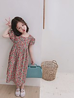 cheap -2020 summer girl sweet floral halter dress girl baby korean small floral dress