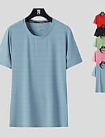 cheap -Women's T shirt Hiking Tee shirt Short Sleeve Tee Tshirt Top Outdoor Ultraviolet Resistant Quick Dry Lightweight Breathable Autumn / Fall Spring Summer Polyester Solid Color Black Red Blue Hunting