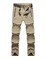 cheap -Men's Hiking Pants Trousers Solid Color Summer Outdoor Tailored Fit Waterproof Ultra Light (UL) Antistatic Quick Dry Spandex Pants / Trousers Black Army Green Khaki Dark Blue Hunting Fishing Climbing