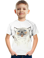 cheap -Kids Boys' Tee Short Sleeve Graphic Animal Children Tops Active White
