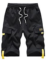 "cheap -Men's Hiking Shorts Solid Color Summer Outdoor 12"" Regular Fit Breathable Soft Comfortable Wear Resistance Cotton Shorts Black Grey Khaki Hunting Fishing Climbing L XL XXL XXXL 4XL"