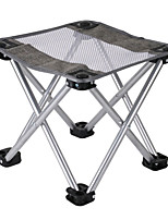 cheap -Camping Stool Multifunctional Portable Breathable Ultra Light (UL) Steel Tube for 1 person Fishing Beach Camping Traveling Autumn / Fall Winter Silver