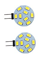 cheap -2pcs 2 W LED Bi-pin Lights 260 lm G4 9 LED Beads SMD 5730 Warm White Natural White White 9-30 V