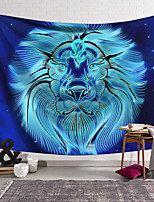 cheap -Wall Tapestry Art Decor Blanket Curtain Hanging Home Bedroom Living Room Color blue Polyester Lion