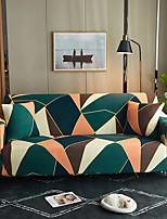 cheap -Green Geometric Triangle Print Dustproof All-powerful Slipcovers Stretch Sofa Cover Super Soft Fabric Couch Cover with One Free Pillow Case