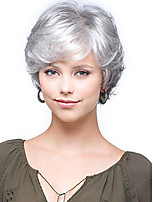 cheap -Synthetic Wig Curly Short Bob Wig Short Silver Synthetic Hair Women's Party Fashion Comfy Silver
