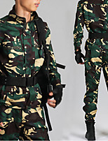 cheap -Women's Men's Hiking Jacket with Pants Military Tactical Jacket Autumn / Fall Spring Summer Outdoor Camo Thermal Warm Windproof Quick Dry Lightweight Clothing Suit Full Length Visible Zipper Fishing