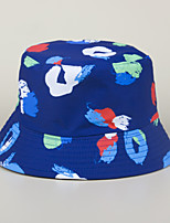cheap -Men's Women's Fisherman Hat Hiking Cap 1 PCS Winter Outdoor Sunscreen Printing Cotton Red and White Blue+Pink White for Fishing Beach Camping / Hiking / Caving