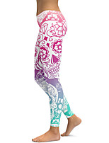 cheap -Women's Sports Breathable Yoga Leggings Pants Graphic Prints Full Length Print Blushing Pink