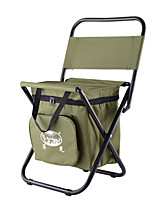 cheap -Camping Stool Built-in Cooler with Side Pocket with Pillow Multifunctional Portable Breathable Ultra Light (UL) Oxford for 1 person Fishing Beach Camping Traveling Autumn / Fall Winter Army Green