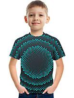 cheap -Kids Boys' Tee Short Sleeve Graphic Children Tops Active Green 3-12 Years