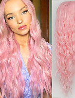 cheap -Synthetic Wig Body Wave Middle Part Wig Medium Length A15 A10 A11 A12 A13 Synthetic Hair Women's Cosplay Party Fashion Black Pink