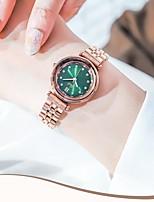 cheap -Women's Steel Band Watches Analog Quartz Minimalist Water Resistant / Waterproof Diamond
