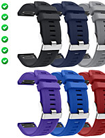 cheap -Smart Watch Band for Garmin 6 PCS Sport Band Silicone Replacement  Wrist Strap for Approach S60 Fenix 5 Fenix 5 Plus Garmin Quatix 5 Forerunner 945 22mm