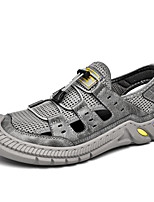 cheap -Men's Sandals Beach Daily Mesh Breathable Non-slipping Wear Proof Black Gray Spring Summer