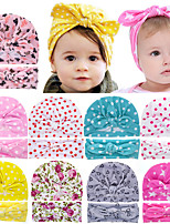 cheap -2 sets Infant Unisex Basic Daily Wear Red Polka Dot Floral Style / Bow Cotton Hair Accessories White / Blue / Red One-Size