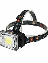 cheap -head lamp waterproof headlight powerful cob led headlight rechargeable head light (emitting color: package a)