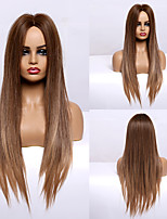 cheap -Synthetic Wig kinky Straight Natural Straight Middle Part Wig 28 inch Light Blonde Synthetic Hair 28 inch Women's Fashionable Design Silky Fashion Blonde
