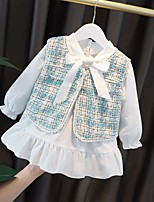 cheap -girls' little fragrant dress 2021 spring children's clothing cute bow lady's skirt baby girl foreign style