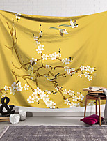 cheap -Wall Tapestry Art Decor Blanket Curtain Hanging Home Bedroom Living Room  Modern White Floral Theme