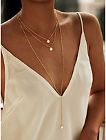 cheap -Layered Necklace Women's Geometrical Mini Simple Fashion Cool Gold 40 cm Necklace Jewelry 3pcs for Prom Festival Line