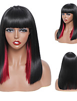 cheap -Synthetic Wig Natural Straight Short Bob Neat Bang Wig 14 inch A1 A2 A3 A4 A5 Synthetic Hair Women's Cosplay Party Fashion Red Black