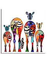 cheap -Oil Painting Hand Painted Square Abstract Animals Modern Stretched Canvas