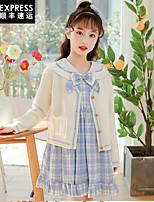 cheap -korean girl dress spring princess dress summer girl middle-large korean children's clothing female 2021 spring skirt spring