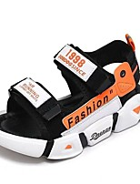 cheap -Boys' Sandals Flower Girl Shoes Princess Shoes School Shoes Rubber PU Little Kids(4-7ys) Big Kids(7years +) Daily Party & Evening Walking Shoes Blue Orange Green Spring Summer / Color Block