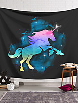 cheap -Wall Tapestry Art Decor Blanket Horse Curtain Hanging Home Bedroom Living Room Decoration Polyester Color Unicorn