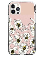 cheap -Floral Botanical Flower Case For Apple iPhone 12 iPhone 11 iPhone 12 Pro Max Unique Design Protective Case Pattern Back Cover TPU